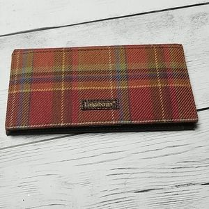 Longaberger plaid credit card and check wallet